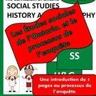 Les Études sociales et le processus de l'enquête - de la 1ère à la 8ème année Freebie is intended to provide a sample of French templates for Inqui...
