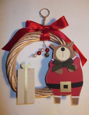 cartoncino mio: Ghirlande natalizie in vimini - parte 1