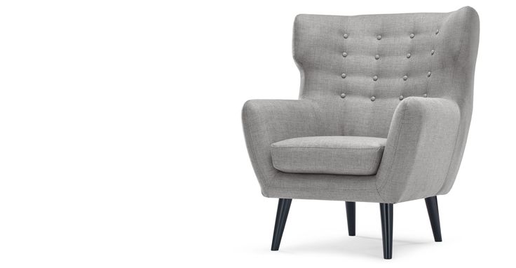 Kubrick Wing Back Chair, Pearl Grey
