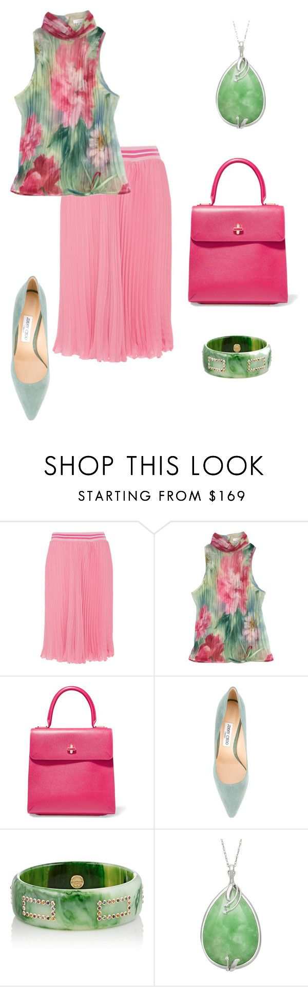 """Untitled #562"" by sensual-spirit on Polyvore featuring Blugirl, ESCADA, Charlotte Olympia, Jimmy Choo and Mark Davis"