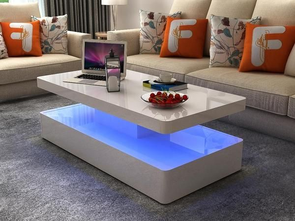 Emily White Lacquer Coffee Table with LED Light #www.craftmansfurniture.ca #furniture #furnituredesign #interiordesign #interiors #furnishing #couches #sofas #bedroomset #diningtable #rugs #coffeetables #canvas #endtables #accessories #accentchairs #canadianmade #solidwood #barstools #mirrors #heartlandtowncentre #handmade #mississauga #contemporaryart #bedroomdecor #homedecor #modernfurniture