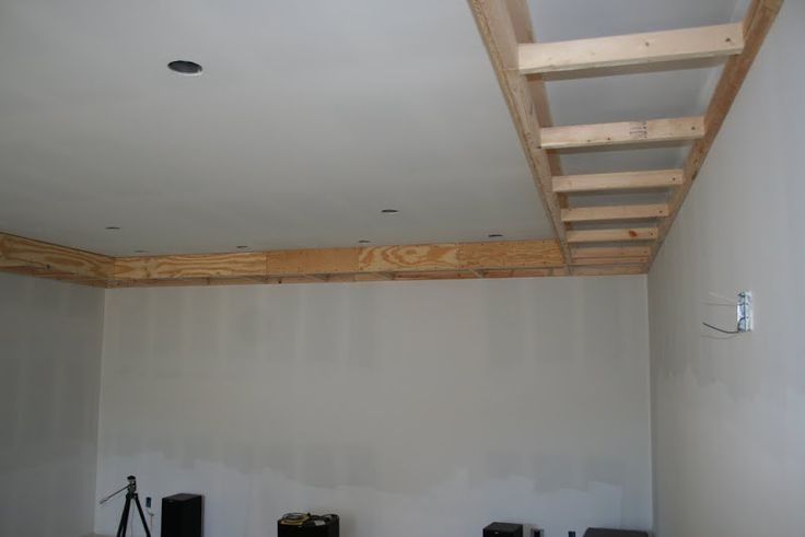 Visual of soffit framing Pimp My Garage - Home Theater Forum and Systems - HomeTheaterShack.com