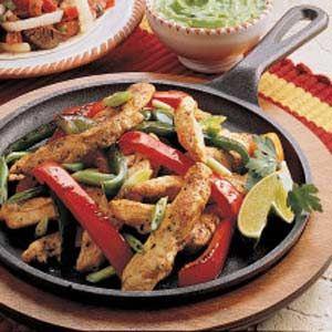 Chicken Fajitas Recipe from Taste of Home -- shared by Julie Sterchi of Jackson, Missouri