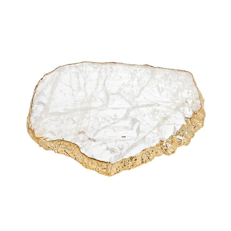 Serve an array of treats in exquisite style with this Kiva platter from Anna New York. In a stunning dappled white, this platter has been formed from a single piece of natural crystal and is edged ...