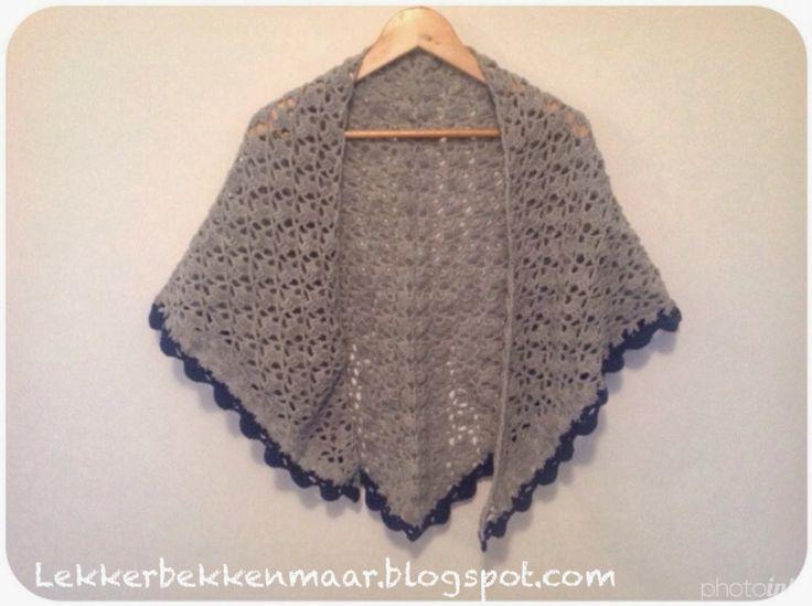 Mijn omslag sjaal - Fie bakt, haakt én naait :-)