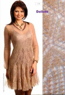 Мир хобби: Вязаное платье из мохера (вязание спицами)