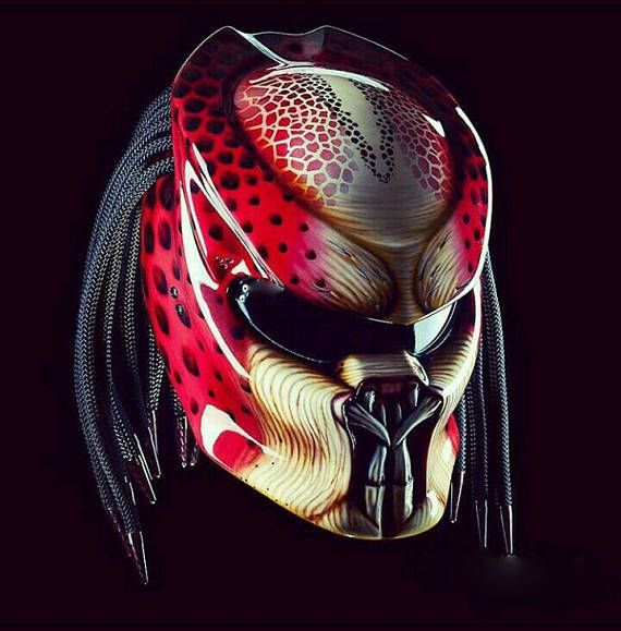 2018 Custom Predator Real Motorcycle Helmet Designs 3  0e2f3c040796b