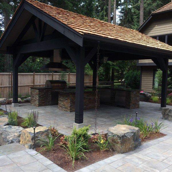 top 50 best backyard pavilion ideas