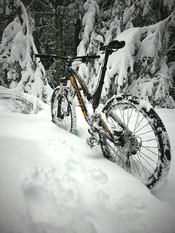 Snow ride KONA Mountain bike MTB Via Twitter
