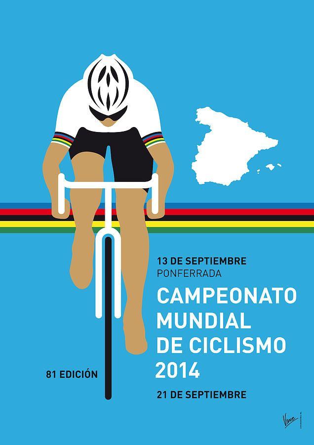 My Uci Road World Championships Minimal Poster 2014 Digital Art