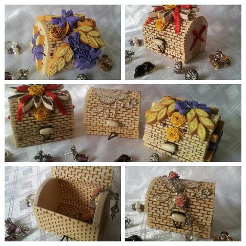 Quilled jwellry box