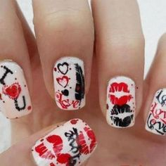 nails for valentines day
