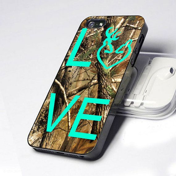 Love Deer Camo iPhone 5 4 4S Case on Etsy, $14.89