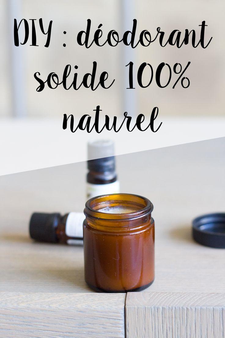 DIY : Recette simple de déodorant solide fait maison, 100% naturel et efficace !