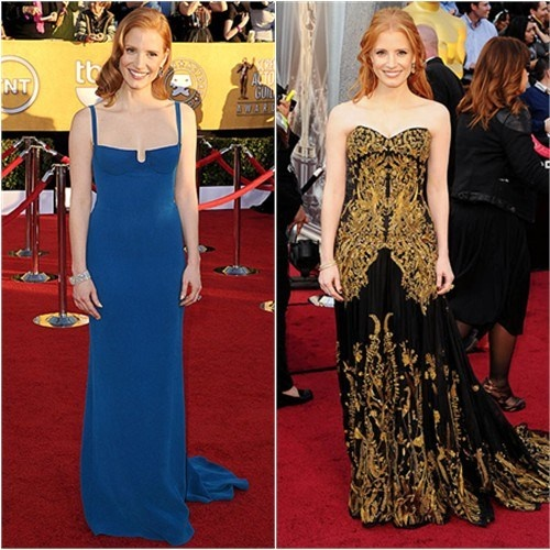 2012 Best Dressed: Jessica Chastain in Calvin Klein & McQueen