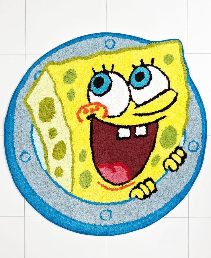 Nickelodeon Bath Rugs, SpongeBob Set Sail 27 Round bath