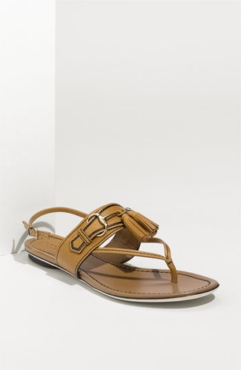 Gucci sandal with tassel...timeless!