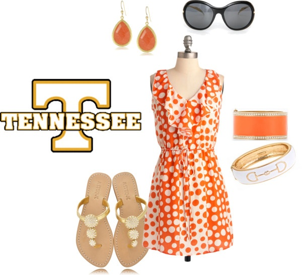 Gameday Dress inspiration for Tennessee Vols Belles!