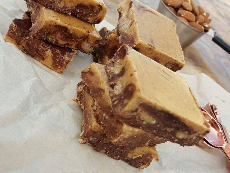 Clean Food Crush Nut Bars Recipe http://cleanfoodcrush.com/chocolate-nut-swirl-bars/