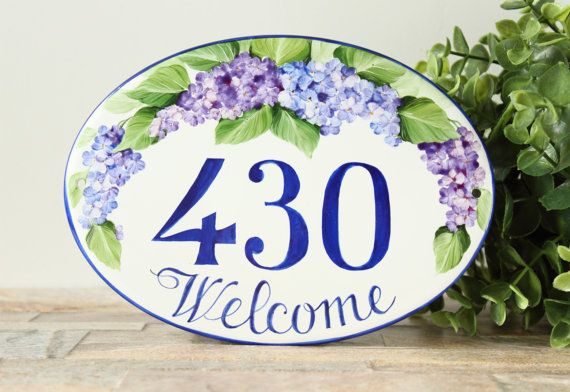 Lilacs flowers outdoor Welcome Sign , Welcome House sign, Porch welcome sign…