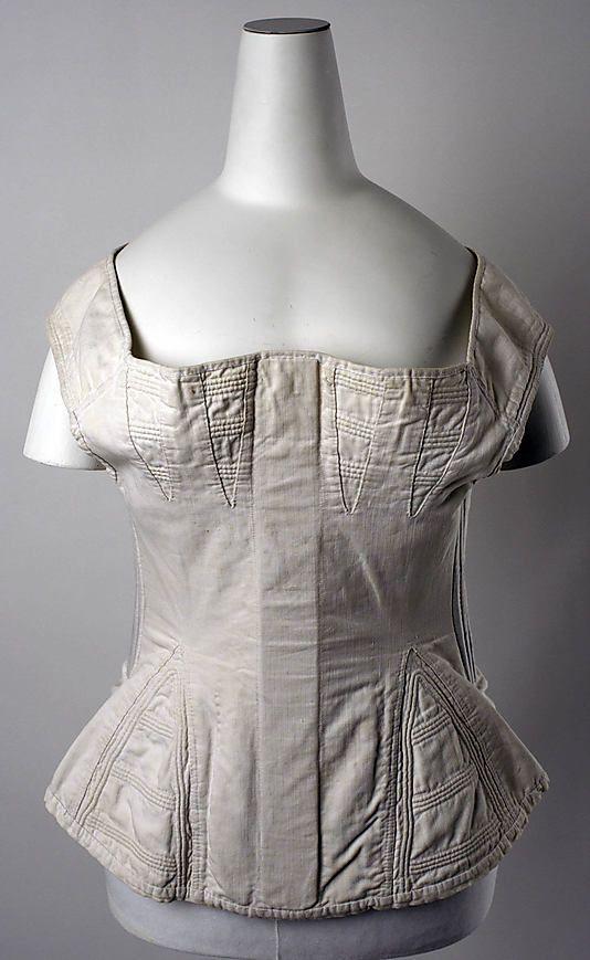 Corset, c. 1830, American, cotton.
