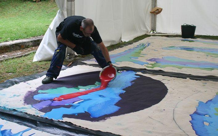 simposio internacional de artistas. Sianoja 2017. Manolo Saenz Messia . Dario Basso Pintura   #artist   #art #paint #painting #color #colour  #arte #artistas