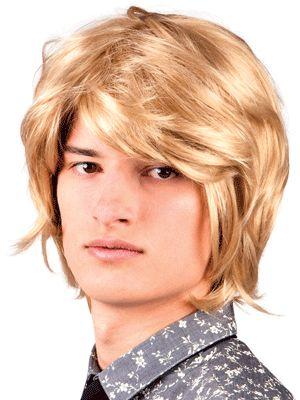 blonde lange pruik voor heren blonde pruik voor heren met halflang haar