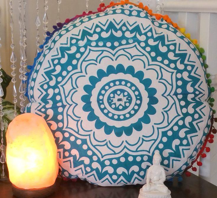 30% Off | Floor Large Cushion Floor Mandala Cushion Mandala Pillow Boho Pillow Mandala Bed Pillows Round Pillow Mandala Round Cushion