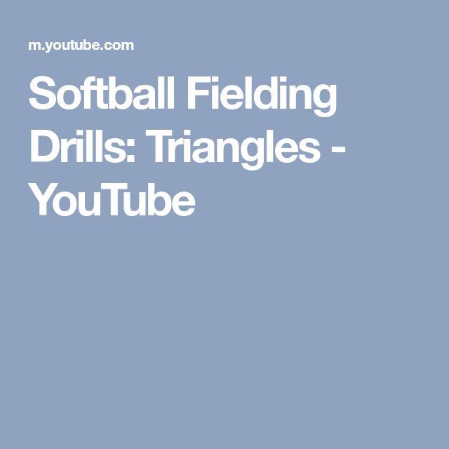 Softball Fielding Drills: Triangles - YouTube