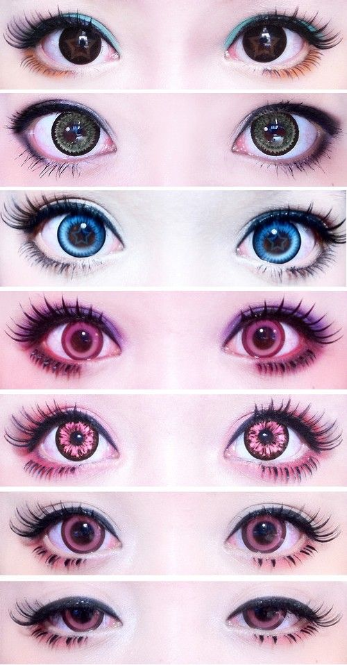 Different Circle Lenses - I love the eye makeup!