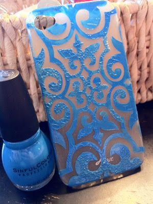 Ghetto Mamma Decorates: Nail Polish Painted Cell Phone Case