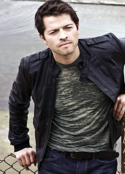 Misha Collins - Always looks so good. Even better in leather!