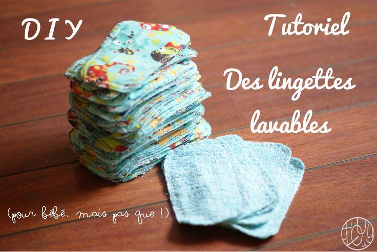 Tutoriel : des lingettes lavables pour bébé - Dans ma petite roulotte...