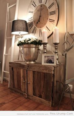 17 best ideas about big clocks on pinterest stair wall for Large foyer wall decorating ideas