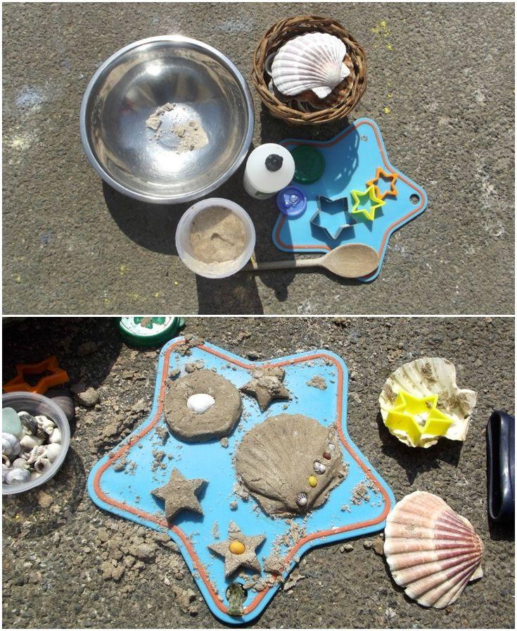 Mit Sand spielen - Sand-Knete selber herstellen