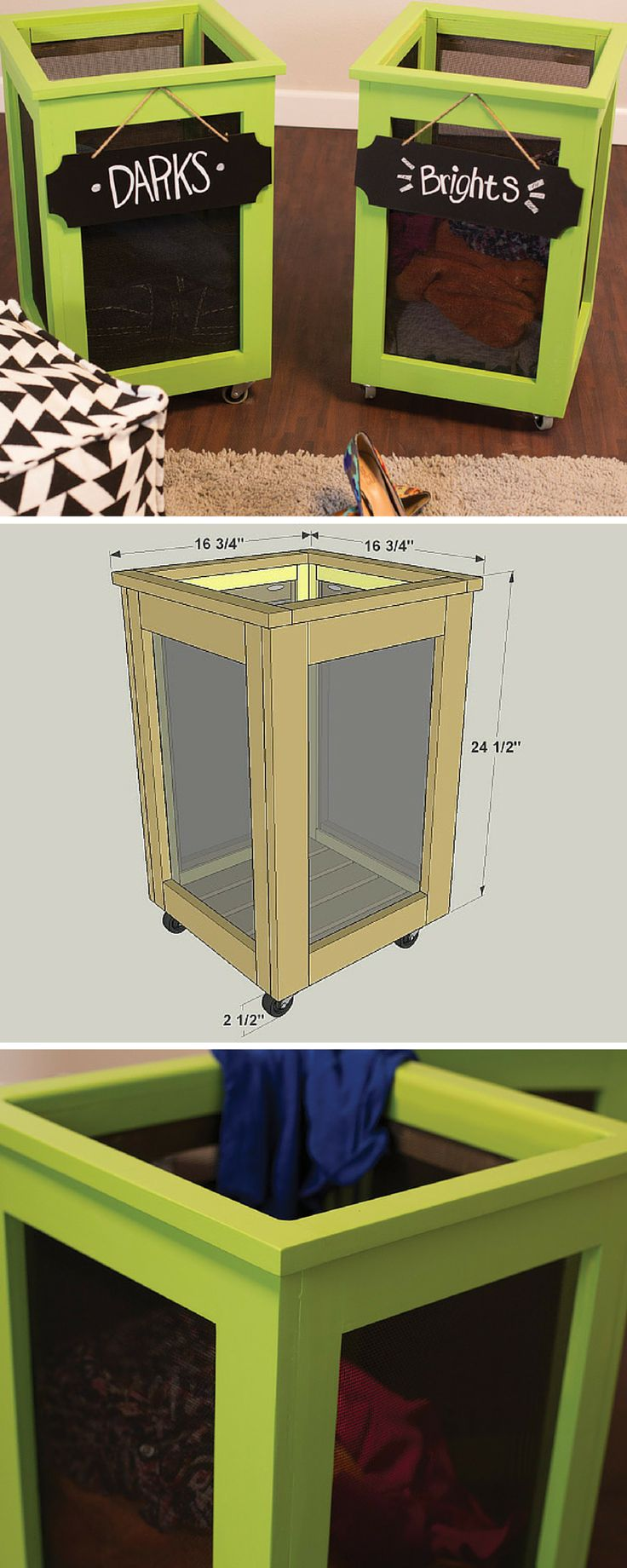 How To Build A Diy Rolling Laundry Hamper  Free Printable Project Plans At  Buildsomething