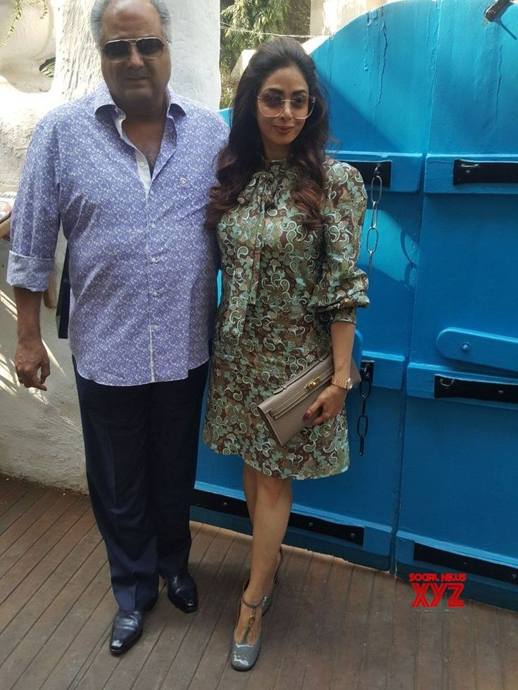 Mumbai: Boney Kapoor and Sridevi during a programme - Social News XYZ