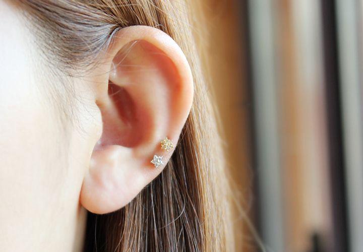 미니꽃 피어싱 / Mini flower piercing : 악어샵