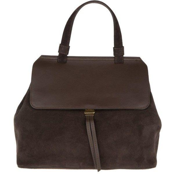 Abro Handle Bag - Kaleido Velvet Satchel Dark Brown - in brown -... ($310) ❤ liked on Polyvore featuring bags, handbags, tote bags, brown, tote handbags, satchel handbags, purse satchel, dark brown handbags and handbag satchel
