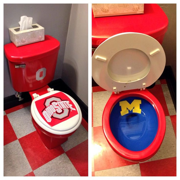 Fan has Ohio State toilet with Michigan bowl, because college football is awesome