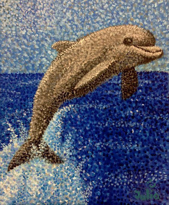 Pointillist Dolphin | точечная роспись | Pinterest | Delfines, Google y  Búsqueda
