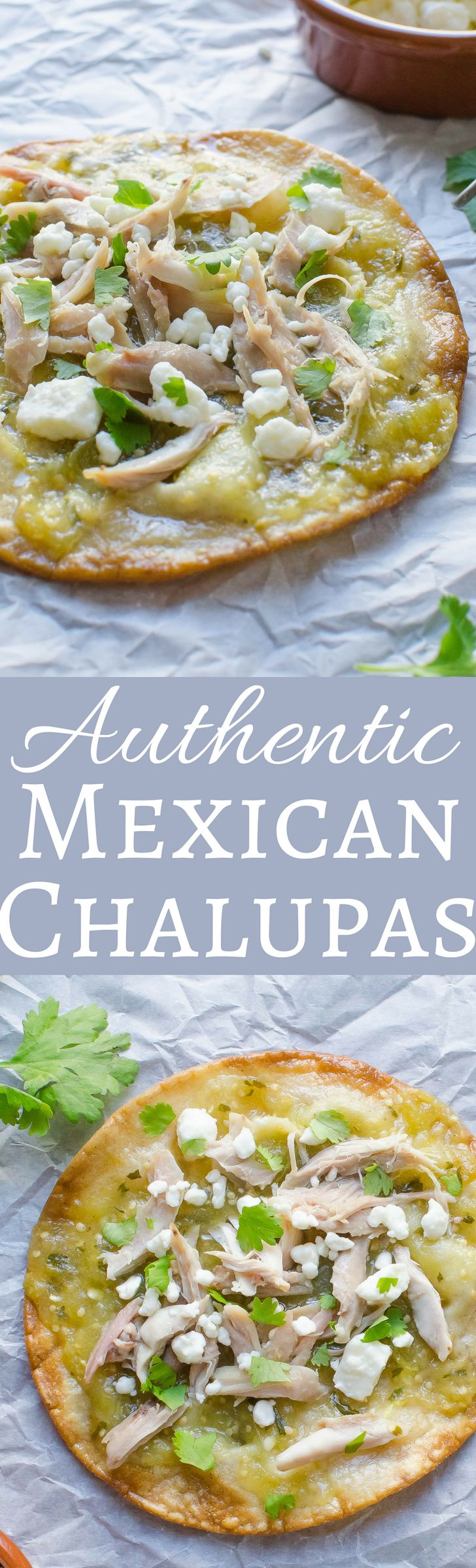 This easy recipe for Authentic Mexican Chalupas will surprise you! These chalupas are crispy & flaky with pulled pork or chicken, mild cheese & a bit of heat!