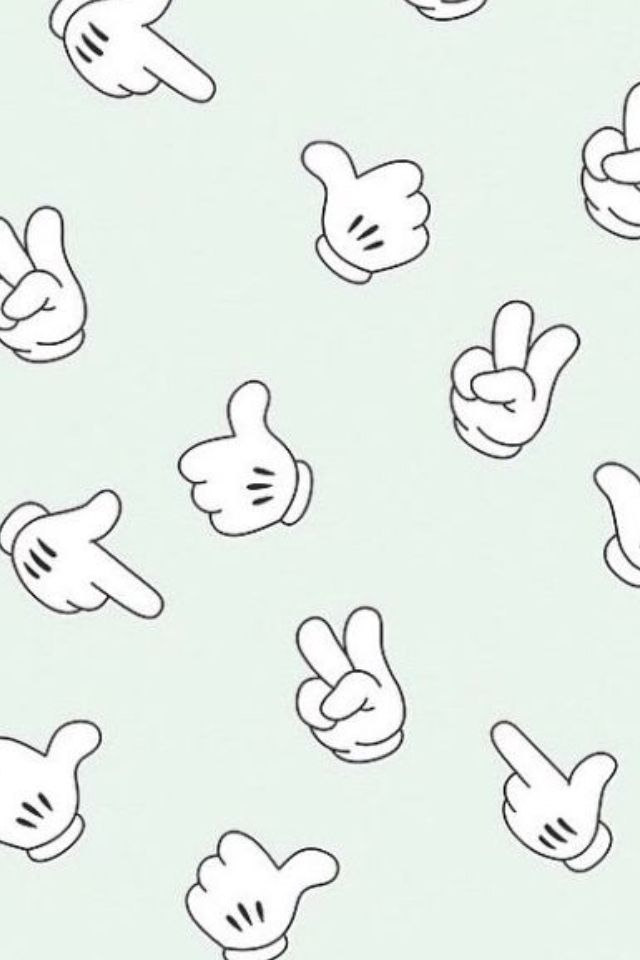 Mickey Mouse hand gestures | iPhone wallpaper