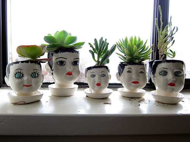 These doll-head planters are pretty awesome