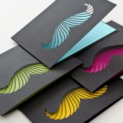 Black Mustache card collection from Stellavie – 'Mustache is currently the new black'. Wonderfully weird mustache cards in vibrant colors, perfect for many occasions.
