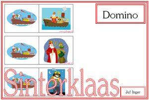 Domino 'Sinterklaas' - Juf Inger