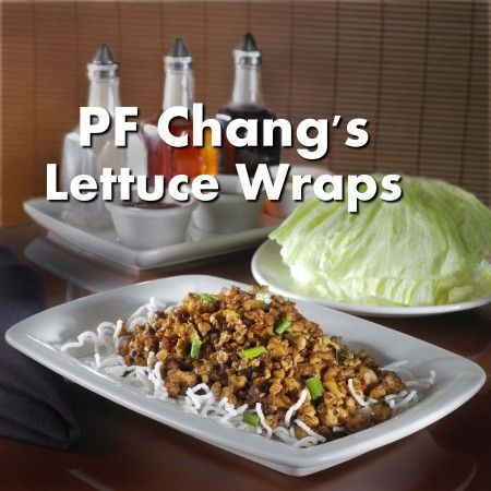 P.F. Chang's Lettuce Wrap Copy Cat Recipe! We will have to test and see if they are as good!