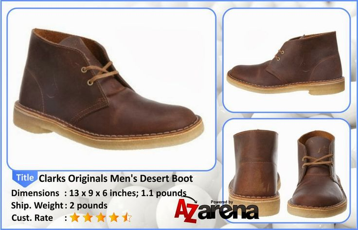 Clarks Originals Men's Desert Boot | For a classic that's graced men's fashion for over 50 years, check out this Desert boot from Clarks. This chukka features a leather upper with a two-eyelet lace-up for a casual fit. Beneath, a plantation crepe sole delivers legendary cushioning for all-day comfort.