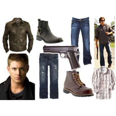 Sam and Dean Winchester. Minus the gun especially if your going to use this as a Halloween costume