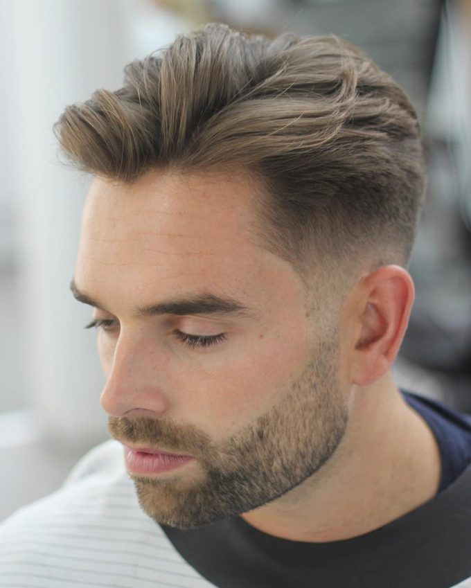 6 fade with long textured top